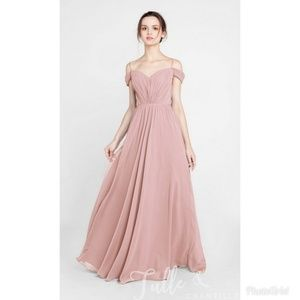 Dusty Rose Off the Shoulder Gown 💕